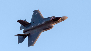 The F-35 stealth combat aircraft