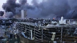 Damage from the blast in Beirut