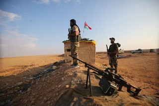 Pro Iranian militia Syria's border with Iraq