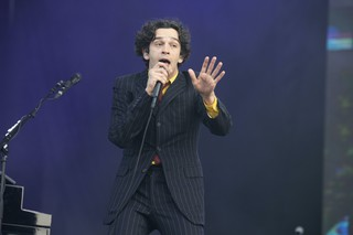 Matthew Healy of the band The 1975 performs at the 2019 Governors Ball Music Festival at Randall's Island Park on June 1, 2019, in New York