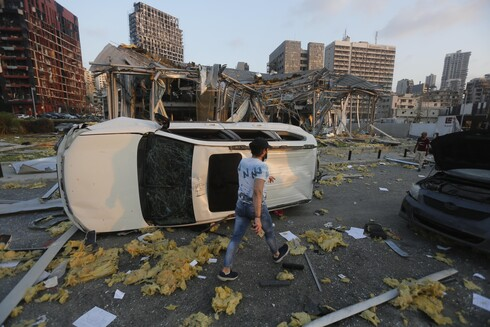 The aftermath of the explosion in Beirut port
