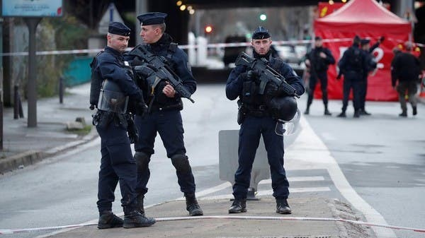 Police outside Bank in Le Havre where a man was holding hostages calling for Palestinian rights ge situation