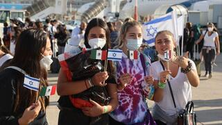 Jewish immigrants from Mexico arrive in Israel in August, 2020