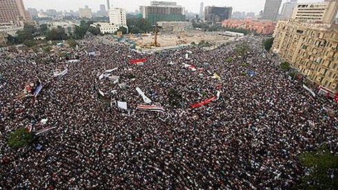 Protests in Cairo's Tahrir Square in 2011