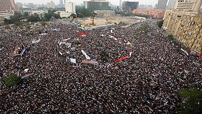 Protesters fill Tahrir Square in Cairo during the 2011 Arab Spring