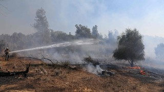 Fire in Kibbutz Be'eri started by incendiary balloons