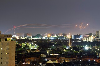 Rocket launches in the Gaza Strip