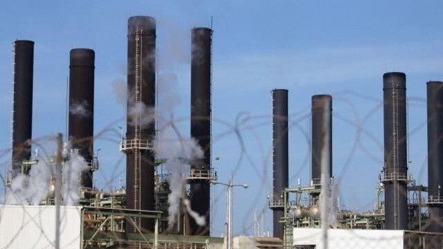 The Gaza electricity plant