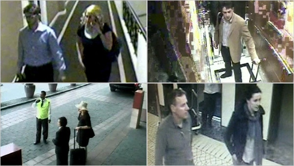 Stills from CCTV footage showing some of suspects in the assassination of Hamas operative Mahmoud al-Mabhouh in Dubai in 2010