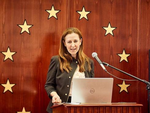 Jean Candiotte speaks at the Creating a New Narrative of Tolerance conference in Brussels in March