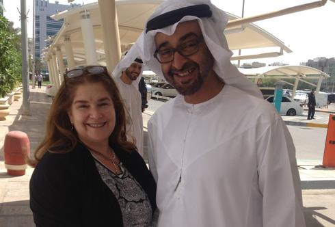 Beth Margolis Rupp poses with the crown prince of Dubai, Mohammed bin Zayed