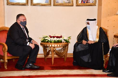 Mike Pompeo meets with Bahraini Foreign Minister Abdullatif bin Rashid Al-Zayani in August