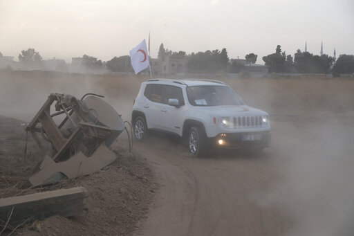A Turkish Red Crescent Jeep in Syria