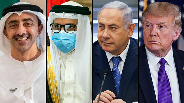 The leaders of the UAE, Bahrain Israel and the U.S.