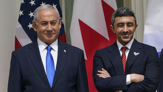 Prime Minister Benjamin Netanyahu and Emirati FM Abdullah bin Zayed bin Sultan Al Nahyan at the White House last month