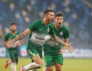 Maccabi Haifa FC during a match in September