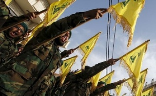 Hezbollah fighters march in Lebanon