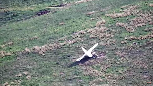 a downed Azeri drone during military clashes along the contact line of the self-proclaimed Nagorno-Karabakh Republic
