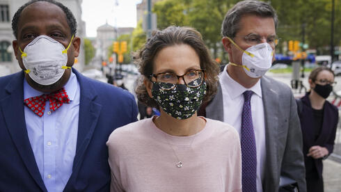 Clare Bronfman arrives at federal court, Wednesday, Sept. 30, 2020, in the Brooklyn borough of New York