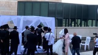 A wedding ceremony held for the son of a seriously ill patient at the Hadassah Medical Center in Jerusalem