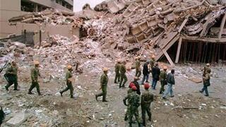 The Aftermath of the bombing of the U.S. embassy in Kenya in 1998 blamed in part on Sudan