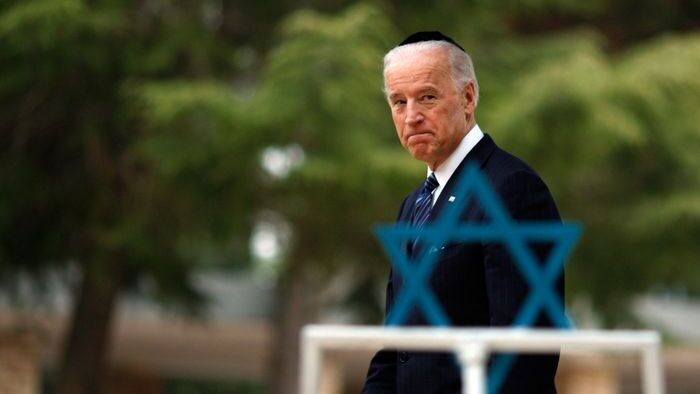Vice President Joe Biden walks in cemetery on Mt. Herzel in Jerusalem on