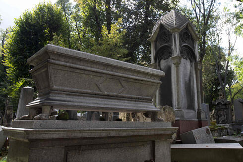 Monumental gravestones are seen at the old Waehring Jewish cemetery in Vienna