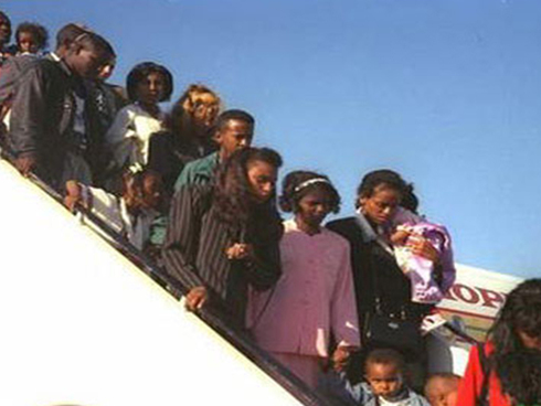 Ethiopian Jews arrive in Israel as part of 1984's Operation Moses