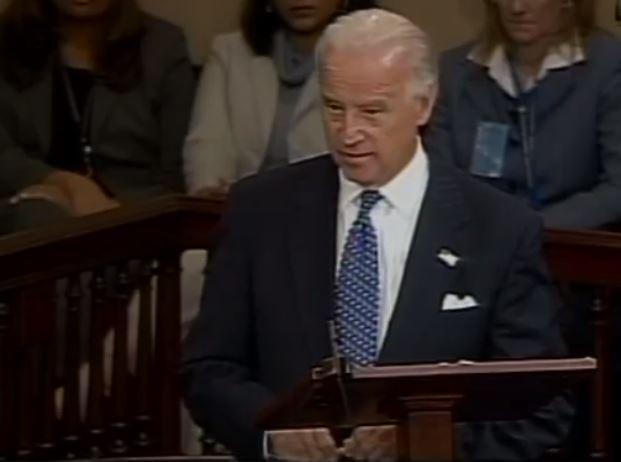Joe Biden makes his farewell address in the U.S. Senate, as he departed to take the position of vice president, January 2009