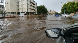 Flooding in Ashdod on Wednesday