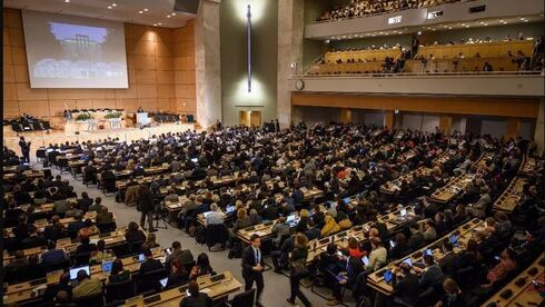 World Health Organization World health assembly at the United Nations Offices in Geneva