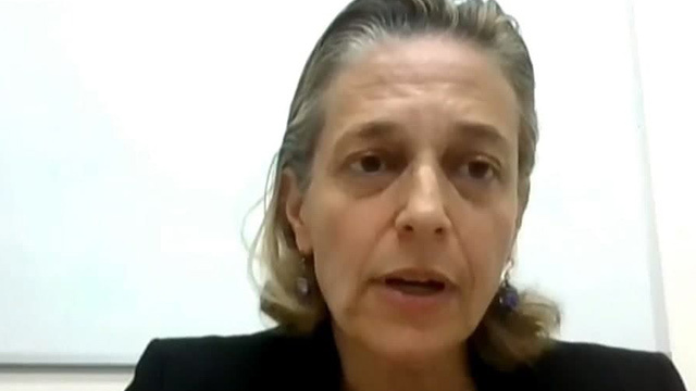 Sharon Elrai-Price speaking on Zoom to the Knesset Constitution, Law and Justice Committee