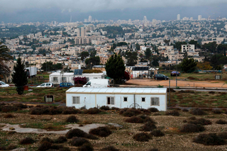 Temporary caravan homes in the East Jerusalem settlement of Givat Hamatos