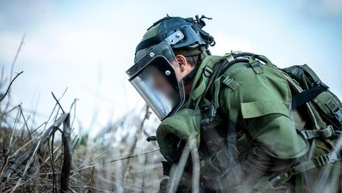 IDF Engineering Corps soldier removed IEDs found on Syrian border on Tuesday