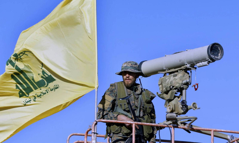 archive picture of a Hezbollah fighter in Southern Syria