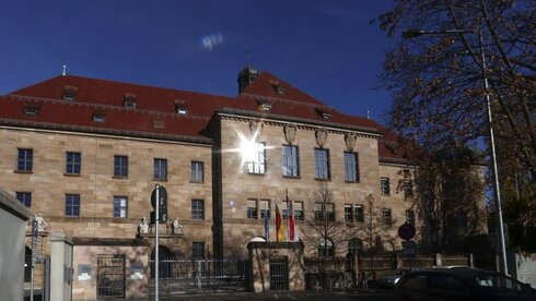 The Palace of Justice in Nuremberg, Germany