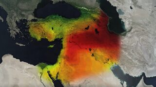 NASA satellite imagery shows how the Middle East has become a major hotspot for loss of groundwater in recent years