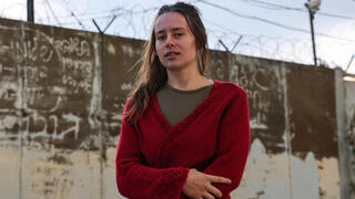 """Hallel Rabin, a 19-year-old Israeli conscientious objector, poses for a picture outside the """"number six"""" military prison near Atlit in northern Israel"""