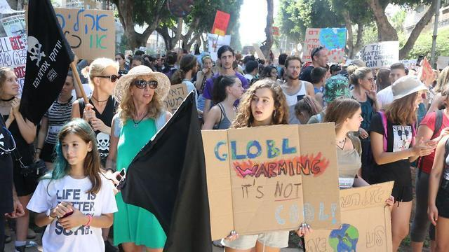 Israelis attend a 2019 climate change protest in Tel Aviv