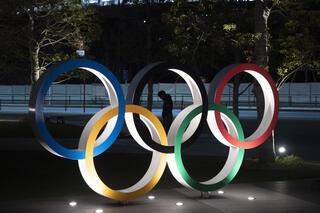 The Olympic symbol in Tokyo