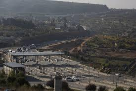 The highway and border crossing outside Bethlehem