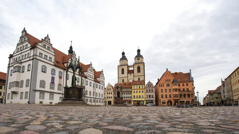 The center of the old city center in Bavaria