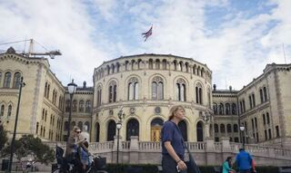 The Norwegian Parliament in Downton Oslo, Norway