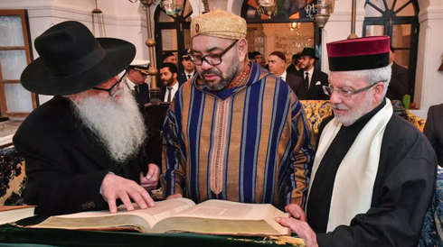 Morocco's King Mohammed VI is seen at Essaouira's 'House of Memory' in January 2020