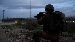 IDF soldier during military activity in the West Bank