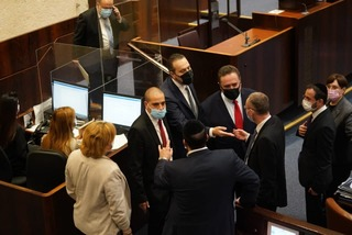 Lawmakers in the Knesset as a bill to prevent parliament dissolving failed to pass