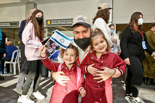 Jewish immigrants from Canada arrive at Ben Gurion Airport