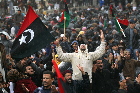 Anti government protest in Libya in 2011