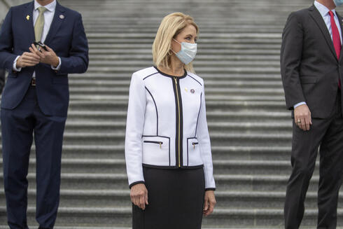 Miller and other House Republican freshmen gather for a group portrait outside the U.S. Capitol in Washington, D.C., January 4, 2021
