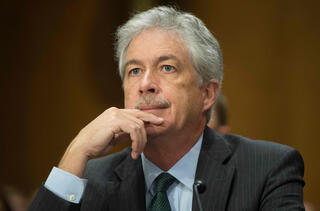 then Deputy Secretary of State William Burns testifies on the current situation in Syria and the Ukraine to the Senate Foreign Relations Committee on Capitol Hill in Washington, DC